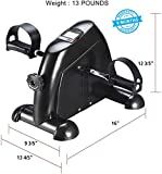 Ozoy Exercise Cycle Portable Mini Home Pedal Gym Fitness Exerciser with Adjustable Resistance LCD Display for Leg Arm Cardio
