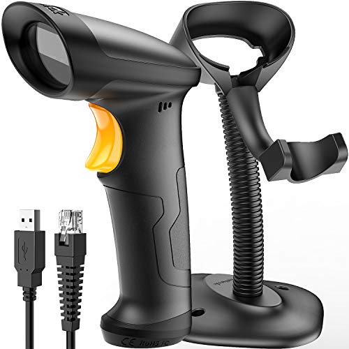 Barcode Scanner, Inateck USB Barcode Scanner with Stand, 1D Wired, BCST-33 1d barcode scanner