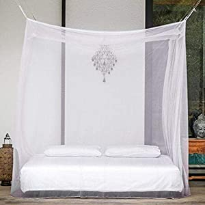 Divayanshi Polycotton Mosquito net for Bed (White, 10 x 6.5 ft)