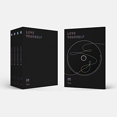 BigHit Entertainment BTS - LOVE YOURSELF 轉 Tear [RANDOM ver.] CD+Photobook+Mini Book+Photocard+Standing Photo+Folded Poster+4 Extra Photocards