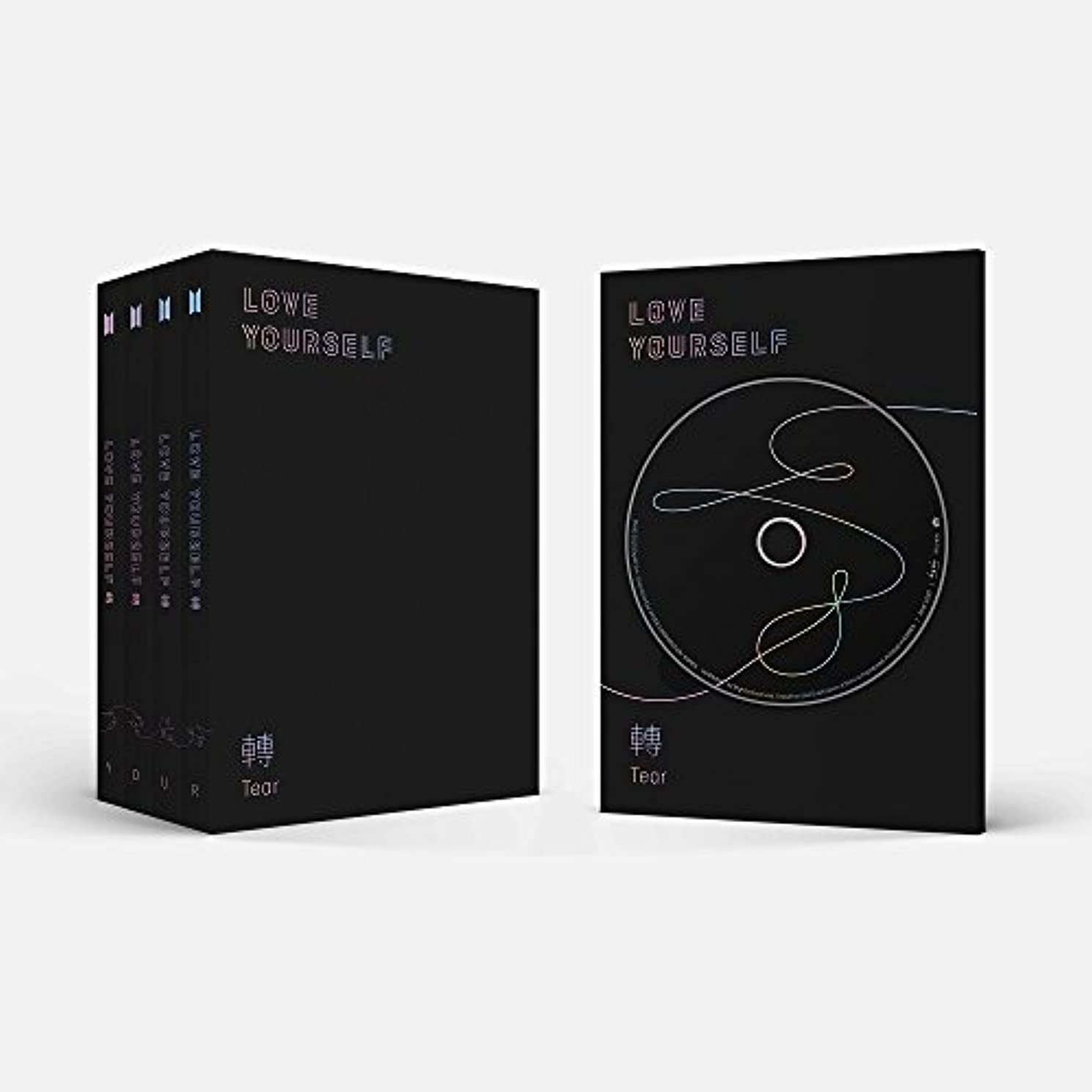 BTS-[Love Yourself 轉'Tear'] 3rd Album 4 Ver SET CD+Poster+104p PhotoBook+20p Mini Book+1p PhotoCard+1p Staing PhotoCard+Pre-Order Benefit+Extra Photo Card SET K-POP Sealed
