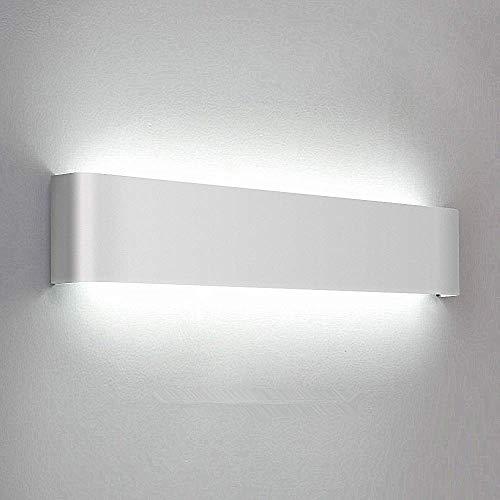 Lightess Modern Wall Sconces 20W/24in Up Down LED Wall Lamp Rectangular Vanity Bar Light for Bathroom Bedroom, White, HN213