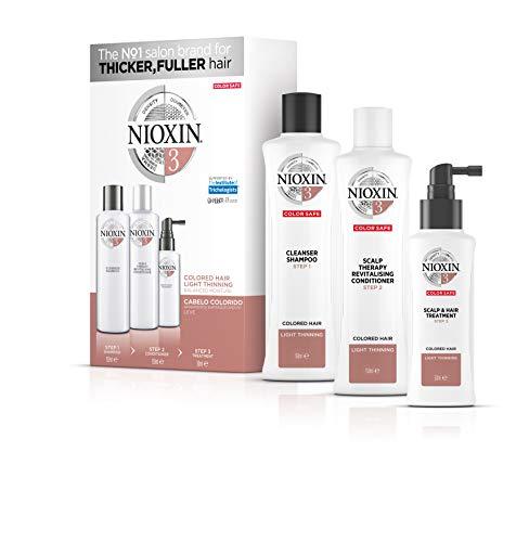 Trial kit Sistema 3 Shampoo 150ml, Condicionador 150ml e Leave-in 50ml, Nioxin, Pequeno