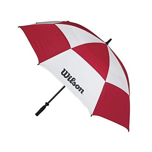 Wilson, WGA090200RED, paraplu, stormbestendig, dubbele windscherm, baldakijn, diameter: 157 cm, kunststof, tour, wit/rood