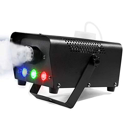Máquina de humo para luces de escenario, máquina de humo potable remota inalámbrica, 12 colores 400w LED Luces de fiesta estroboscópicas súper brillantes con control remoto para fiestas, bodas, vacaci