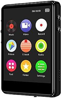 Iycorish X62 Full Screen MP3 Player 5.0 HiFi Music Player Student Ultra Thin Loseless Audio Player USB 2.0 8G Black