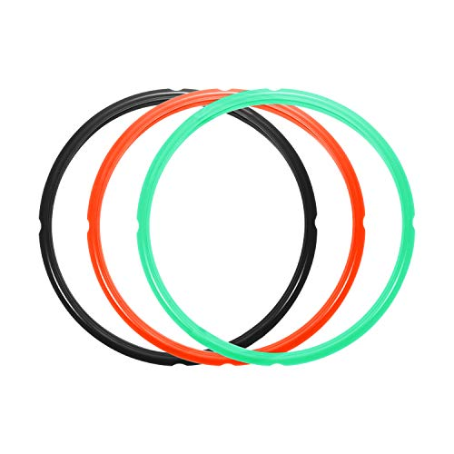 STYDDI Silicone Sealing Ring for Instapot 6Qt, 5.7Litre Electric Pressure Cooker, Compatible with Instapot Duo V2, Instapot Duo Plus 60, BPA-Free, Food-Grade Silicone,3 Pack