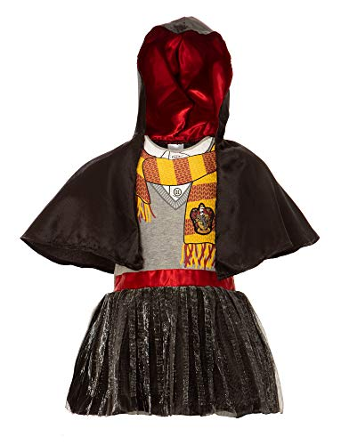Warner Bros. Harry Potter Toddler Girls' Hooded Costume Ruffle Dress with Cape (3T)