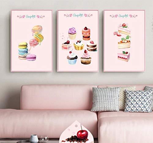 Pastel lindo Pastelería Para Hornear Pared Cuadros Para Niño Bebé Lienzo Pintura Poster Decoración Del Hogar Para la Sala de estar Sin Marco
