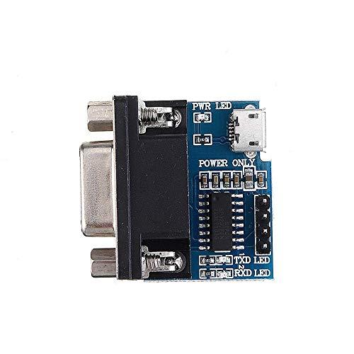 BXU-BG 5pcs RS232 a TTL módulo convertidor de Serie de Serie del módulo Conector DB9 MAX3232 con el módulo de Cable