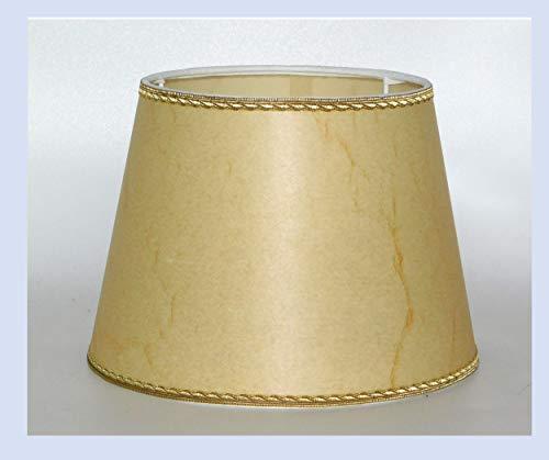 Paralume classico cappello in finta pergamena antica con bordo in oro - produzione propria...