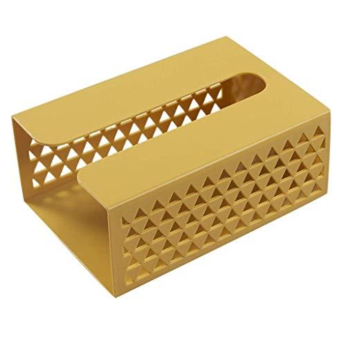 Inicio Caja de pañuelos montada en la Pared Servilletero Dispensador de plástico Estante de Almacenamiento Carro de Cocina Caja de Almacenamiento Colgante (Color: Amarillo)
