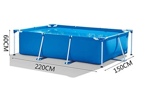 Wttfc Piscina Gonfiabile per Adulti per Piscina All'aperto Family Garden Addensare Oversize Vasca per Bambini, Blu (220 * 150 * 60Cm)