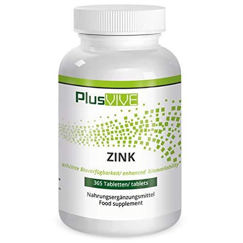 Plusvive - 365 comprimidos de zinc con matriz de biodisponibilidad (25 mg)