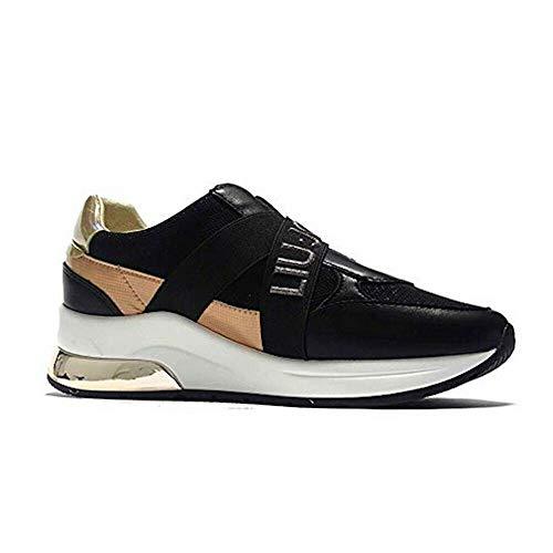 Liu Jo Mädchen Sneaker Damen Turnschuhe Schuhe Karlie 4A0721EX03022222 schwarz (Numeric_35)