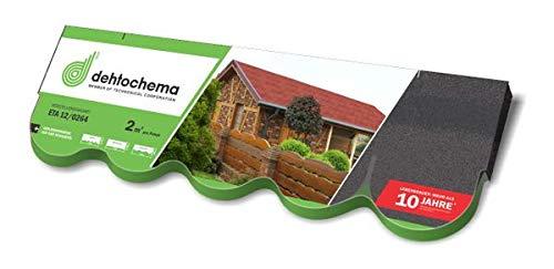 IKO Sales International nv Easy Shingle Bitumen-Biberschindel - schwarz 2 m² - Eindeckung von geneigten Dächern wie z. B. bei Gartenlauben, Pavillons, Carports, Ferienhäusern und Wohnhäusern.
