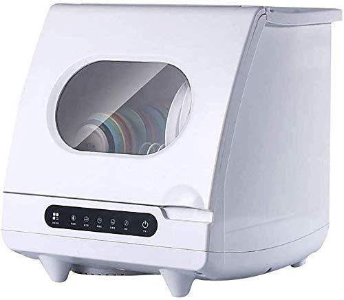 Tabletop Geschirrspüler Einbauschränke, Spülmaschine tragbare Mini-Spülmaschine, mit Verzögerung Start - mit Edelstahl-Innenraum und 6 Gedecke Rack für Wohnung Büro