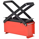 Tidyard Paper Log Briquette Maker Steel, Recycle Newspapers and Waste Paper by Pressing into Fuel 13.4'x5.5'x5.5' Black and Red