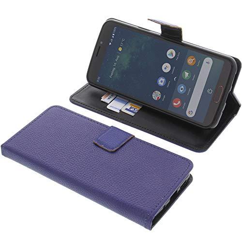 foto-kontor Tasche für Doro 8080 Book Style blau Schutz Hülle Buch