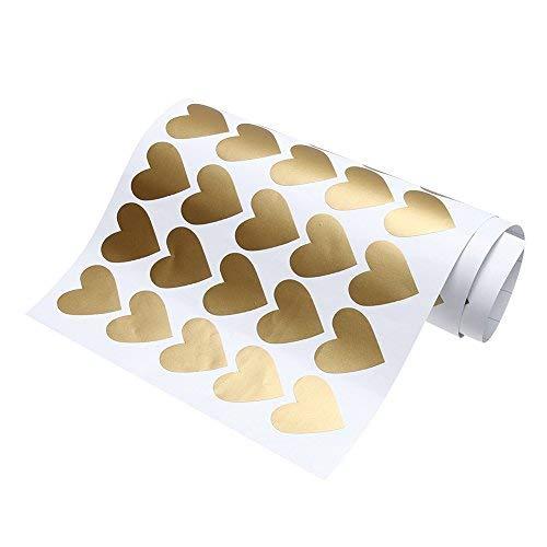 Broadroot 65pcs extraíble corazón pared pegatinas pegatinas de vinilo Home Room Decor dorado