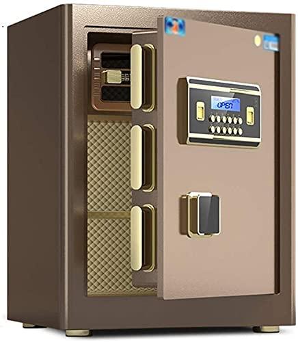 DJDLLZY Caja Fuerte Digital for Home Office Seguridad Doble Cerradura con Llave y contraseña (Color : Brown, Size : 38 * 32 * 45cm)