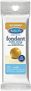 Satin Ice Rolled Fondant - Gold Shimmer - 125G