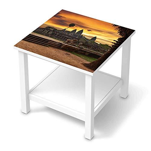 creatisto Möbel-Tattoo passend für IKEA Hemnes Beistelltisch 55x55 cm I Möbelfolie - Möbel-Aufkleber Folie Tattoo I Deko DIY für Wohnzimmer und Schlafzimmer - Design: Angkor Wat