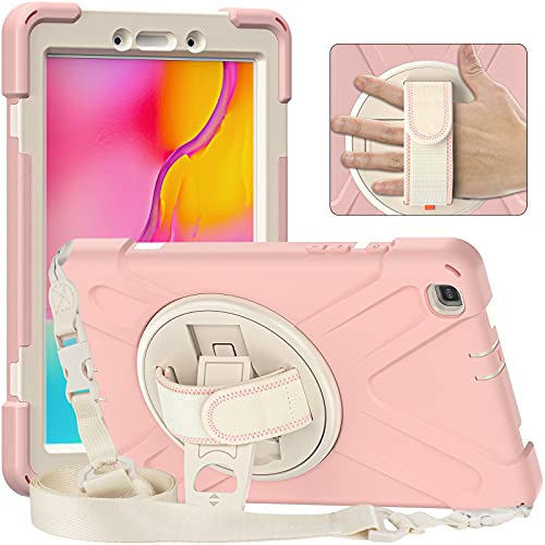 Funda para Samsung Galaxy Tab A 8' 2019 (SM-T290/T295/T297), Funda Protectora Prueba de Choques Resistente Carcasa con Soporte Giratorio de 360 Grados y Correa de Hombro,A6