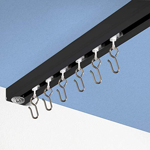 Room/Dividers/Now Ceiling Track Set - Medium, For Spaces 6ft - 12ft Wide (Zoro Black)