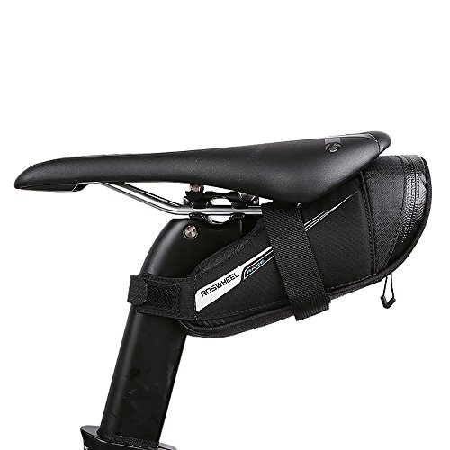 Roswheel Satteltasche Fahrradtasche Radtasche mit Rücklichthalter für Rennrad(0,6L)