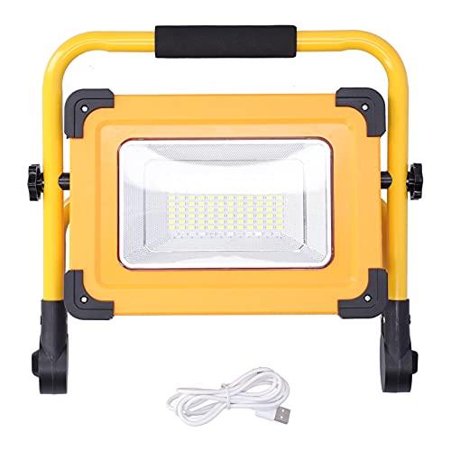 Lámpara de Trabajo Solar Portátil 8000LM Proyector de Mano Soporte de Luz de Trabajo Carga USB Kits de Supervivencia a Prueba de Agua...