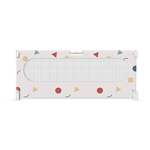 miwaimao Rieles de cama valla de cama, valla protectora para niños, tamaño grande, altura 75 cm, ajuste de 3 velocidades, seguridad (color, verde-150 cm), rosa-180 cm