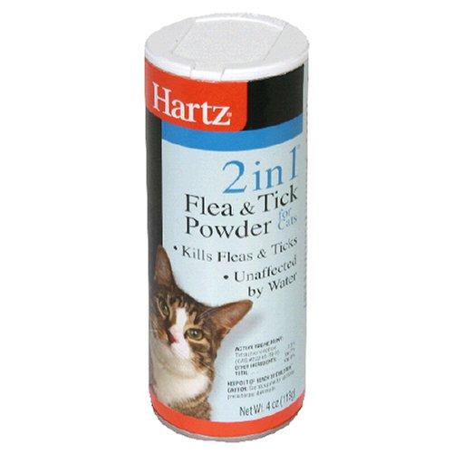 Hartz 2 In 1 Flea & Tick Powder For Cats, 4 oz