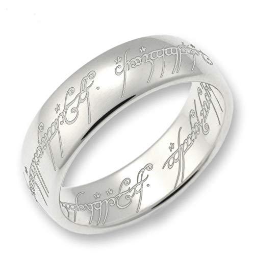 Herr der Ringe/Hobbit Schmuck by Schumann Design der EINE Ring aus massivem 925 Silber/poliert ORIGINAL