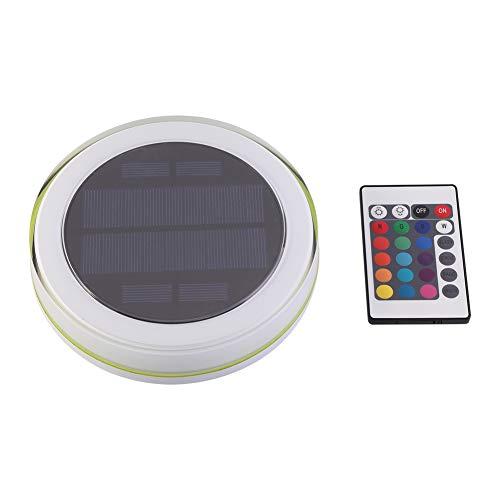Duokon Luz de Piscina subacuática LED RGB, lámpara de decoración Colorida RGB Solar Lámpara de Fuente Flotante para Piscina LED con Control Remoto para Uso bajo el Agua