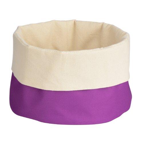 Premier Housewares 1901093 Panier à Pain en Polyester/Coton Crème/Violet