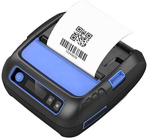 YAYY Imprimante Thermique de reçus de 80 mm Imprimante d'étiqueteuse d'expédition sans Fil Bluetooth 3 en 1 avec Batterie Rechargeable 2600 mAh Prise en Charge ESC/POS(Upgrade)