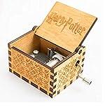 5665 Harry Potter Music Box - Caja de música decorativa (madera), diseño de Harry Potter de Hogwarts
