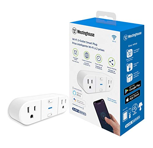 Westinghouse 94013 WH-522 Wi-Fi Smart Plug, Works with Alexa, Google Home & IFTT, No Hub Required, White