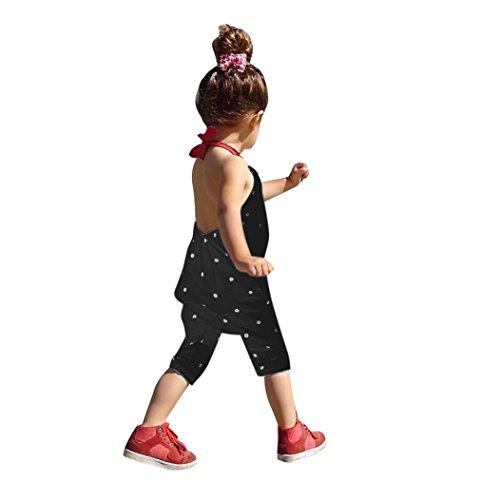 Bekleidung Longra Kleinkind Kind Baby Mädchen Riemen Overalls Stück Hosen Rompers Jumpsuits Mädchen Sommerkleidung(1-6Jahre) (90CM 1-2Jahre, Black)