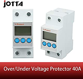 40A 230V Din Rail Adjustable Over Voltage and Under Voltage Protective Device Protector Relay