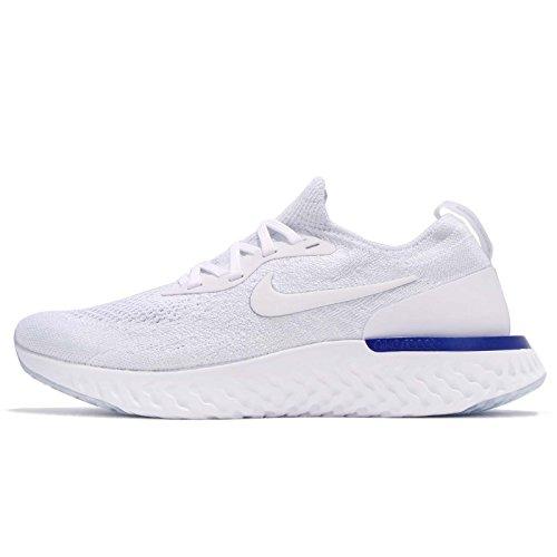 Nike Wmns Epic React Flyknit, Zapatillas de Deporte Mujer, Multicolor White Racer Bl 100, 38 EU
