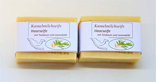 Kamelmilchseife Haarseife, mit Teebaum- und Lavendelöl
