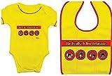 The Beatles - Conjunto de babero y body para bebé, diseño clásico