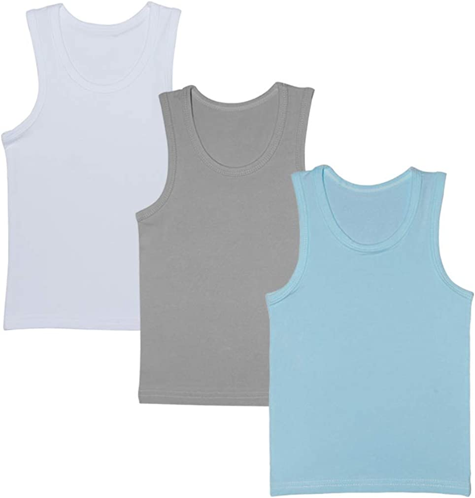 GLEAMING GRAIN Toddler Undershirts Kids Tank Tops/Tagless Cami Super Soft Breathable Combed Cotton for Toddler Kids