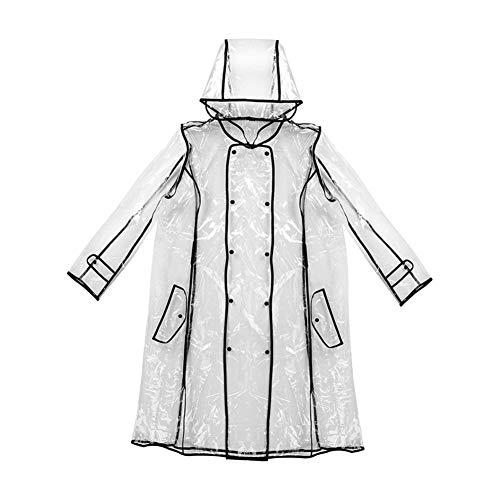 ZZZ-ccca EVA Transparant Regenjas Lange Regenkleding voor Vrouwen Waterdichte Jas Windbreaker Regen Poncho Met Riem Buiten capa de lluvia