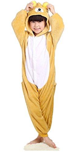 Lifenewbaby pour enfants Barboteuse enfants Dessin animé Animal Pyjama Animie Cosplay Costume à capuche Jumpsuits-bear - Marron - XX-Small