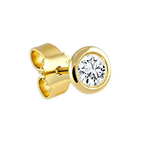 Diamond Line Herren - Ohrstecker 585er Gold 1 Diamant ca. 0,20 ct., gelbgold
