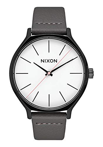 Nixon Reloj Analógico para Mujer de Cuarzo con Correa en Cuero A1250-007-00