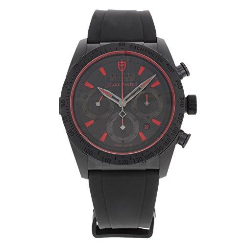 Tudor Fastrider nero Shield 42000CR ceramica automatico orologio da uomo
